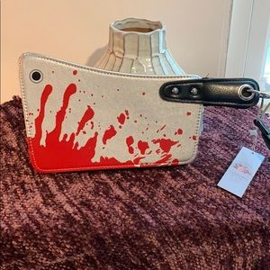 "UNIQUE ""bloody"" knife wristlet!!!!"